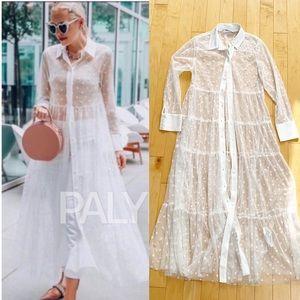 Zara Tulle Dot Dress